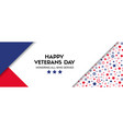 banner for veterans day facebook size vector image