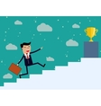 Businessman run Up Stairs vector image