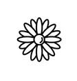 flowers petal icon vector image