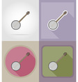 music items and equipment flat icons 08 vector image