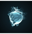 3D illuminated distorted sphere vector image vector image