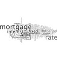 adjustable vs fixed rate mortgages vector image vector image