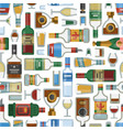 alcohol drinks cocktail bottle seamless pattern vector image vector image