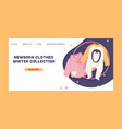 baby clothing fashion kids winter vector image vector image
