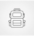 backpack icon sign symbol vector image vector image