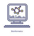 bioinformatics white color icon human genome vector image vector image