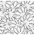 black and white palm leaves seamless pattern vector image vector image