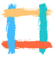 blank frame by brushstroke texture vector image vector image