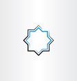blue black line frame star vector image