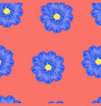 blue watercolor floral seamless pattern vector image