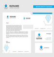 business letterhead envelope and visiting card vector image vector image