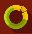 circle chart icon flat vector image