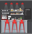 coffee bar vector image vector image
