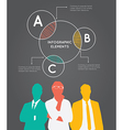 Color Silhouettes of Businessman with pie concept vector image vector image