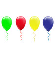colored balloons on a white background vector image