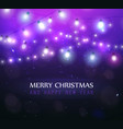 colourful magic glowing christmas lights vector image vector image