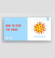 coronavirus ncov website landing page dangerous vector image
