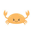 Cute cartoon crab isolated on white background