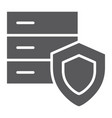 data protection glyph icon safety and storage vector image vector image