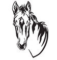 decorative horse 4 vector image