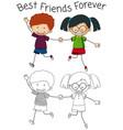 doolde graphic of friend vector image
