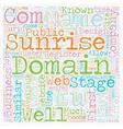 EU Domains text background wordcloud concept vector image vector image