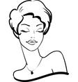 fashion female portrait vector image