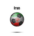 flag of iran in the form of a soccer ball vector image