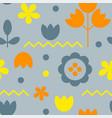 floral pattern surface design scandinavian style vector image