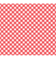 Gingham Pattern in Red and White vector image vector image
