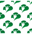 Green clover leaves seamless pattern vector image