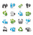 Green Ecology and environment icons vector image vector image
