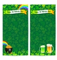 Green Patricks day flyer templates vector image vector image