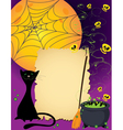Halloween cute card vector image vector image