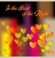 heart of night vector image