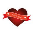 Heart with ribbon isolated object vector image vector image