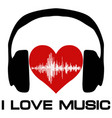 i love music vinyl cover for a music fan vector image vector image