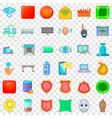 internet cafe icons set cartoon style vector image vector image
