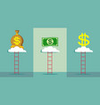 ladder to the sky for money vector image vector image