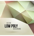 Low poly triangular background Design element vector image vector image