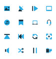 media colorful icons set collection rewind vector image vector image
