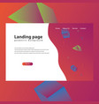 modern trendy landing page vector image vector image