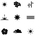 nature icon set vector image vector image