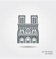 notre dame de paris cathedral france flat vector image