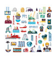 oil industry set icons vector image