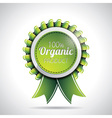 Organic product labels with shiny styled design vector image vector image