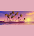 panoramic seascape view picturesque marine scenery vector image vector image