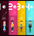 people infographic layout infographics design vector image