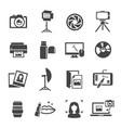 photo studio icon set professional photographic vector image