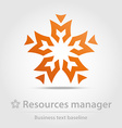 Resources manager business icon vector image vector image